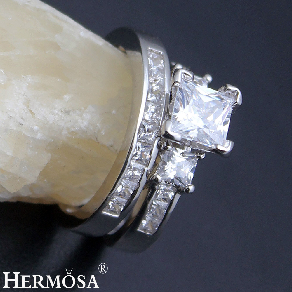 Best Shopping Rings Online Promo Offer Wedding Rings Shiny Zircon