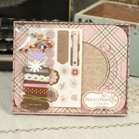 Creative Cute Kraft Paper Frame Home Decoration DIY Material Package