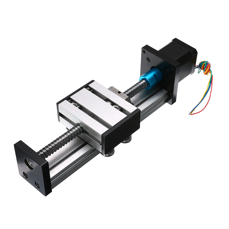 Slide Stroke CNC Linear Motion Lead 1204 Ball Screw Slide Stage Stroke 42 Motor Actuator Stepper For Engraving Machine 100/400mm