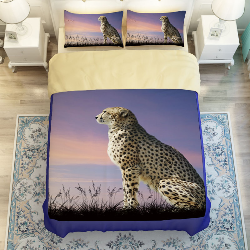High Quality 3D Animal Cheetah Print Bedding Sets Twin Queen King Size Bedlinen Duvet Cover Set Soft Polyester Sanding TextilesHigh Quality 3D Animal Cheetah Print Bedding Sets Twin Queen King Size Bedlinen Duvet Cover Set Soft Polyester Sanding Textiles