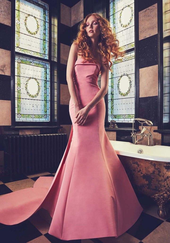 Eightree Elegant Mermaid Long Evening Dress Vestido de Festa Floor Length Party Gown Off the Shoulder Prom Dresses