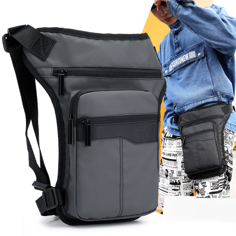 2018 New Oxford  Men Waist Leg Drop Bag Military Assault Hip Bum Bags Belt  Fashion Male Travel Waterproof Fanny Leg Pack