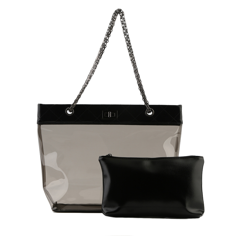 Kleidung & Accessoires Damen Transparente Handtasche Tote