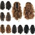 4 цвета Черный Белый Хвост Расширение Волос Синтетический Фигурные Ponytails Натуральных Волос Коготь В Хвост Drawstring Шиньоны Виглет