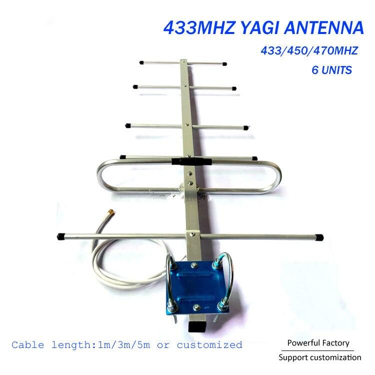 Tunnel Einzelnen Übertragen Antenne 470MHz Outdoor 433MHz Yagi Antenne 1PCS