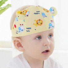 2019 Spring and Summer New Baby Empty Top Hat Cartoon Cool Cotton Double Layer Infant