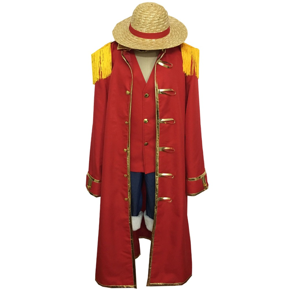 2018 One piece Monkey D. Luffy Cosplay Costumes Summer Clothing Set For Halloween Party Christmas