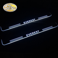 SNCN 4PCS Acrylic Moving LED Welcome Pedal Car Scuff Plate Pedal Door Sill Pathway Light For Ford Everest 2015 2016 2017 2018