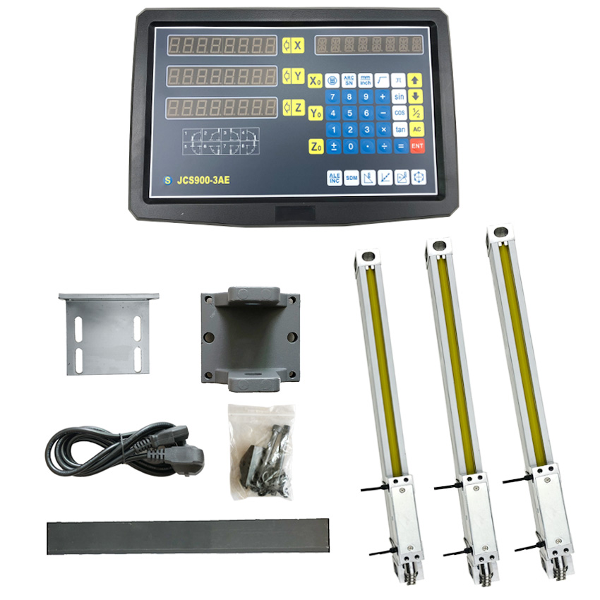 Complete milling lathe tools 3 axis dro set/kit digital readout + 3 PCS 5u Optical lines size 400 500 600 700 800 900 1000Complete milling lathe tools 3 axis dro set/kit digital readout + 3 PCS 5u Optical lines size 400 500 600 700 800 900 1000