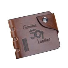 Baellerry Leather Vintage Wallet Men Money Bag Purse Hasp Cl