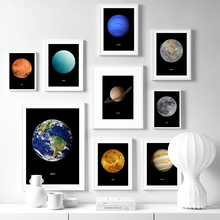 Earth Venus Moon Mars Saturn Uranus Planet Nordic Posters And Prints Wall Art Canvas Painting Picture For Living Room Decor
