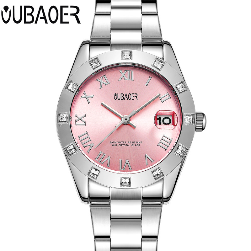 OUBAOER Luxury Women Watch Ladies Quartz Watch Women Wristwatch Relogio Feminino Montre Femme Reloj Mujer Clock Gift cuena luxury women s watches women quartz watch relojes reloj mujer montre femme relogio feminino waterproof ladies clock 6624