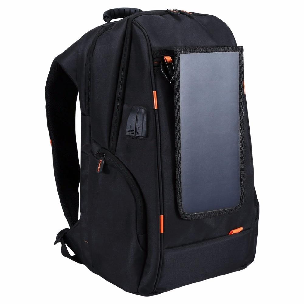 HAWEEL Outdoor Multi-function Breathable Solar Panel Power Backpack Laptop Tablet bags External USB Charging/Earphone P