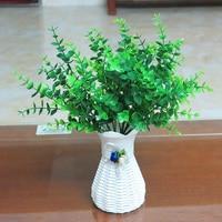 Fałszywe kwiat z tworzywa sztucznego partycji ściany roślin z drewna eukaliptusa rośliny kwiatowe dekoracje z trawy jednoskrzydłowe pot