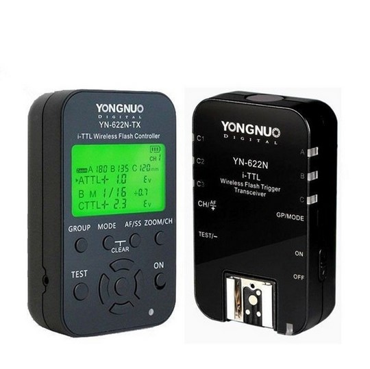 Yongnuo YN-622N-KIT YN622N-KIT i-TTL Wireless Flash Trigger 1x YN-622N-TX YN622N-TX Controller + 1X RX Transceiver for Nikon DSL yongnuo 1 x yn 622n tx 1 x rx yn 622n kit ttl lcd wireless flash trigger set for nk d800 d800e d800s d600 d610 d7200 d7100
