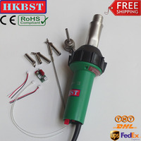 HKBST plastic hot air welding machine with heat gun for PP,PVC,PE,HDPE,Tarpaulins etc