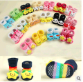 Newborn Socks 1 Pair Baby 0-18Month Anti Slip Cotton Cute Shoes Animal A variety of  colors Slippers Boots