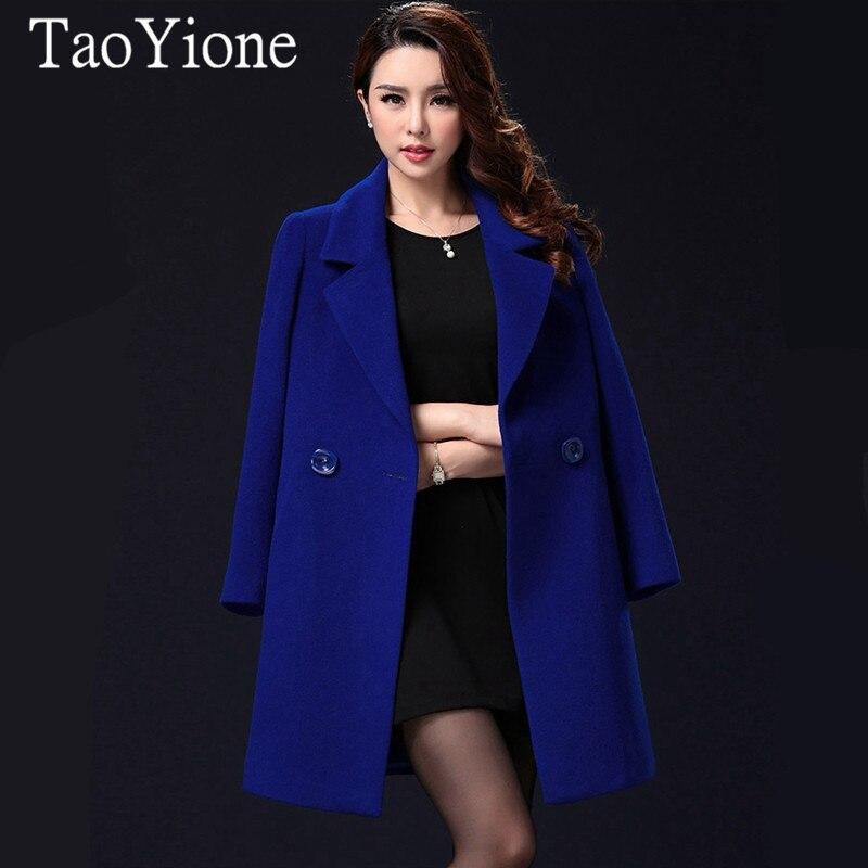 Elegant Winter Wool Coat Female Fashion High-end Women Long Woolen Coats Jacket Plus Size Femininos Loose Casual Warm Outwear