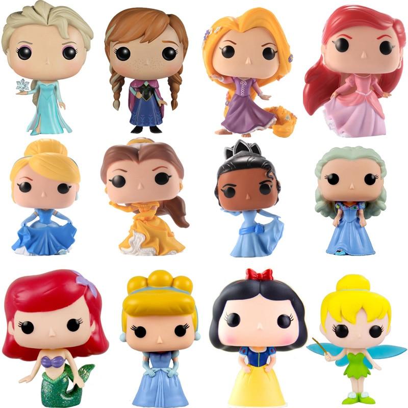 FUNKO POP disney Princess doll Belle Ariel Rapunzel ...