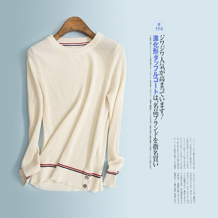 Laine La marine Basant Slim Automne Gamme Boutique Beige Chemise Et Femmes Pure Bleu Color D'hiver Haut gris De Tricot Nouvelles 1R61Pqgw