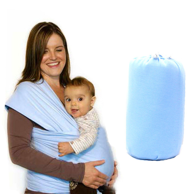LONSANT Infant Baby Carrier  Handsfree Sling Newborn Baby  Double shoulder strap Holder Breastfeeding  Stretchy Wrap Carrier