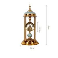 Decorative Retro Table Desktop Clocks Living Room Bedroom Vintage Alarm Clock Tower Nostalgic Ornaments Table Desktop Watches