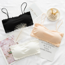 Seamless One-piece Tube Tops Women Removable Pads Intimates Womens Strapless Padded Bra