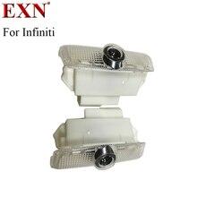 Водить автомобиль Дверь Логотип Свет 5 Вт привели Тень проектор Предоставлено лазерный логотип лампа для Infiniti FX серии G Q50L q50 Q60 Q70 любезно лампы