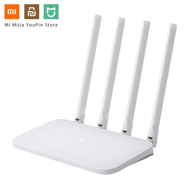 Ban đầu Tiểu Mi Mi Router WIFI 4C 64 RAM 802.11 B/g/n 2.4G Không Dây 300 Mbps các Bộ Định tuyến Repeater 4 Anten Thông Minh ỨNG DỤNG Điều Khiển Ban Nhạc