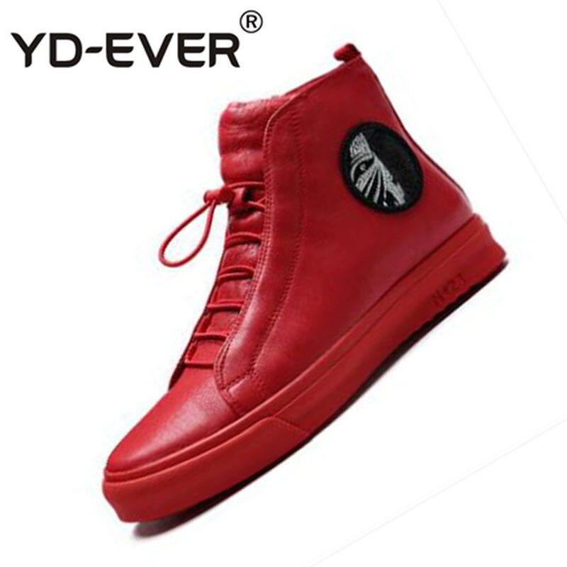 Hop Couro High Sapatos Hip vermelho Vermelho Grande De Zipper Genuíno Sapatilhas Homens Tamanho Skate Preto Da Flats Verão Luxo Top Marca Pista Preto aZq5wUAqx