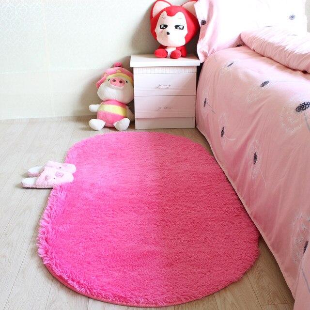 Online Shop 16 Sizes Oval Plush Large Carpets Soft Cushion Kids Area ...