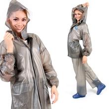 Wasserdichte Regenjacke Frauen Motorrad Fahrrad Chuva Capa De Chuva Undurchlässig Regenmantel Hosen Transparent Regen Mantel Männer DDGZYX