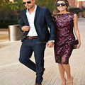 2016 Новое Прибытие Темно-Синий Свадебные Костюмы Для Мужчин На Заказ Made Slim Fit Костюм Homme Однобортный Ternos Плюс Размер костюмы
