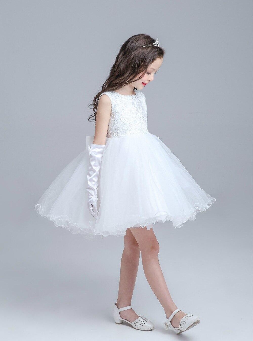 Nice White Girls Party Dress Vignette - All Wedding Dresses ...