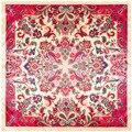 90*90 cm Bufanda Cuadrada Mantón de Las Señoras Bohemia Anacardo Impreso Pañuelo de Seda Imitado Primavera Elegante Decoración 2017 de la Nueva Llegada