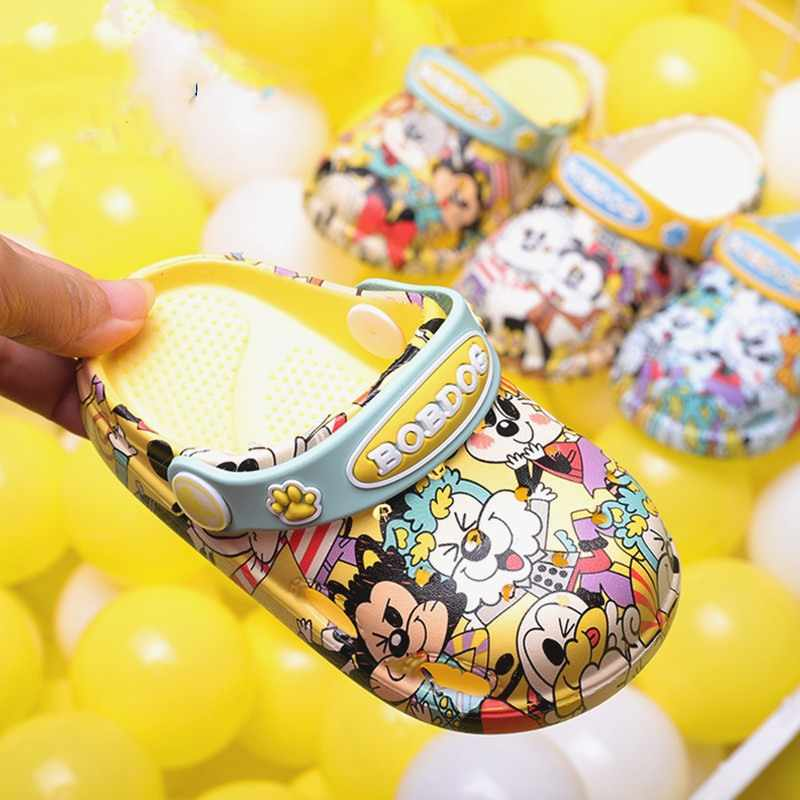 1-3 years2019 ファッション少年少女ビーチスリッパ子供サンダル夏漫画子供靴 EVA 抵抗通気性滑り止めベビー
