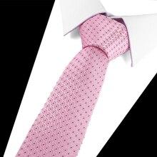 купить Plaid Striped Cotton slim Tie Fashion Design New 7.5cm Ties For Men Wedding Necktie Paisley Corbatas party Gravatas Neck Tie дешево