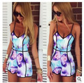 2016 Elegant Jumpsuit Rompers Womens Jumpsuit Ebay Aliexpress Explosion Of Strapless V Collar Sling Stamp Sexy Leotard Pants
