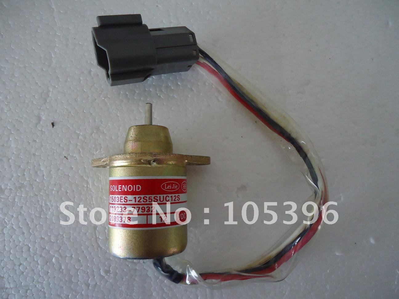 Shut down Solenoid for 119653-77950+fast free shipping by DHL/Fedex/UPS express(5pcs a lot)