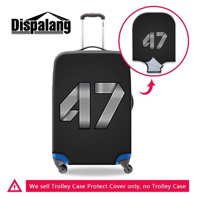 Dispalang número 47 23 bagagem de viagem cobre moda 3d impressão impressão de espessura à prova d' água capa protetora para 18-30 polegada mala