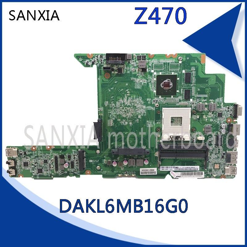 KEFU Z470 DAKL6MB16GO REV: G carte mère d'ordinateur portable pour Lenovo Z470 Test carte mère d'origine