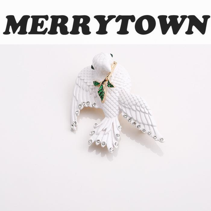 Peace Dove WhitePigeon Enamel Metal Brooch Pin Scarf Coat Suite Broches for Women Jewelr ...
