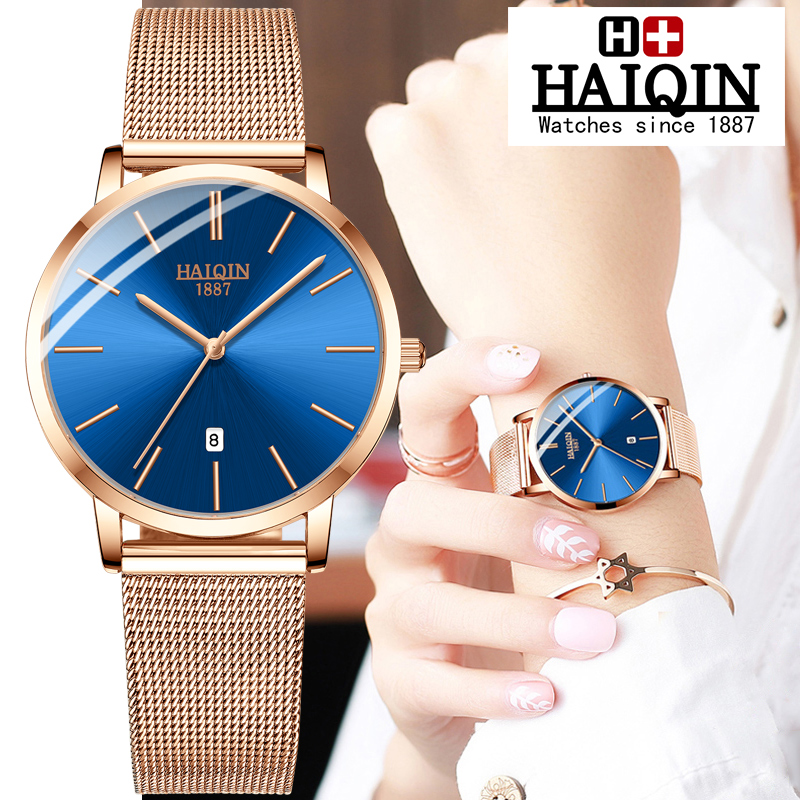 HAIQIN Couple Watches Quart Mens Watches Top Brand Luxury Watch Men Waterproof Sport Women Watch Military Relogio Masculino 2019