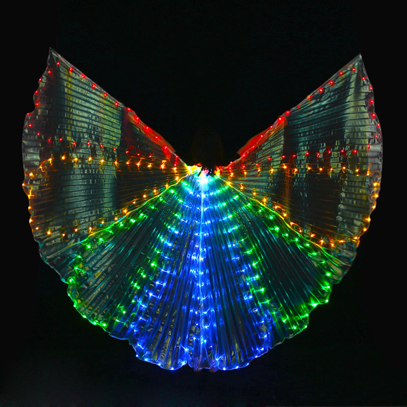 Wings LED 360 Degree Stage Performance Prop Belly Dancing ISIS LED Wings BellyDance Costume Wing Dance