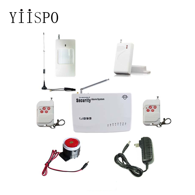 Wireless GSM Security Alarm System Dual Antenna Alarm System Security Home Alarm with PIR detector wholesale price gsm alarm system for home security system with wired pir door sensor dual antenna burglar alarm home alarm system signaling