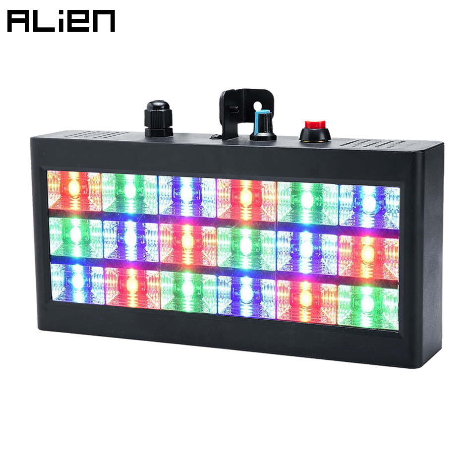 ALIEN 18 LED Strobe RGB Flash Stage Lighting Effect Sound Activated For Club Disco Party DJ Holiday With Variable Speed Control