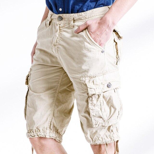 e24ab7bb25 Summer Men Cargo Shorts Plus SizeArmy Green Baggy Zipper Pocket Short  Trousers 29-38 AYG291