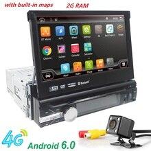 Android 6.0 HD 1024*600 Auto DVD-Player Radio Für Universal Autoradio Monitor 4G WIFI GPS Navigation Kopfeinheit 1din 2G RAM RDS BT