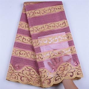 Image 5 - Afrika Net dantel kumaş 2019 işlemeli nijeryalı danteller kumaş yüksek kaliteli fransız tül dantel kumaş düğün parti için A1607