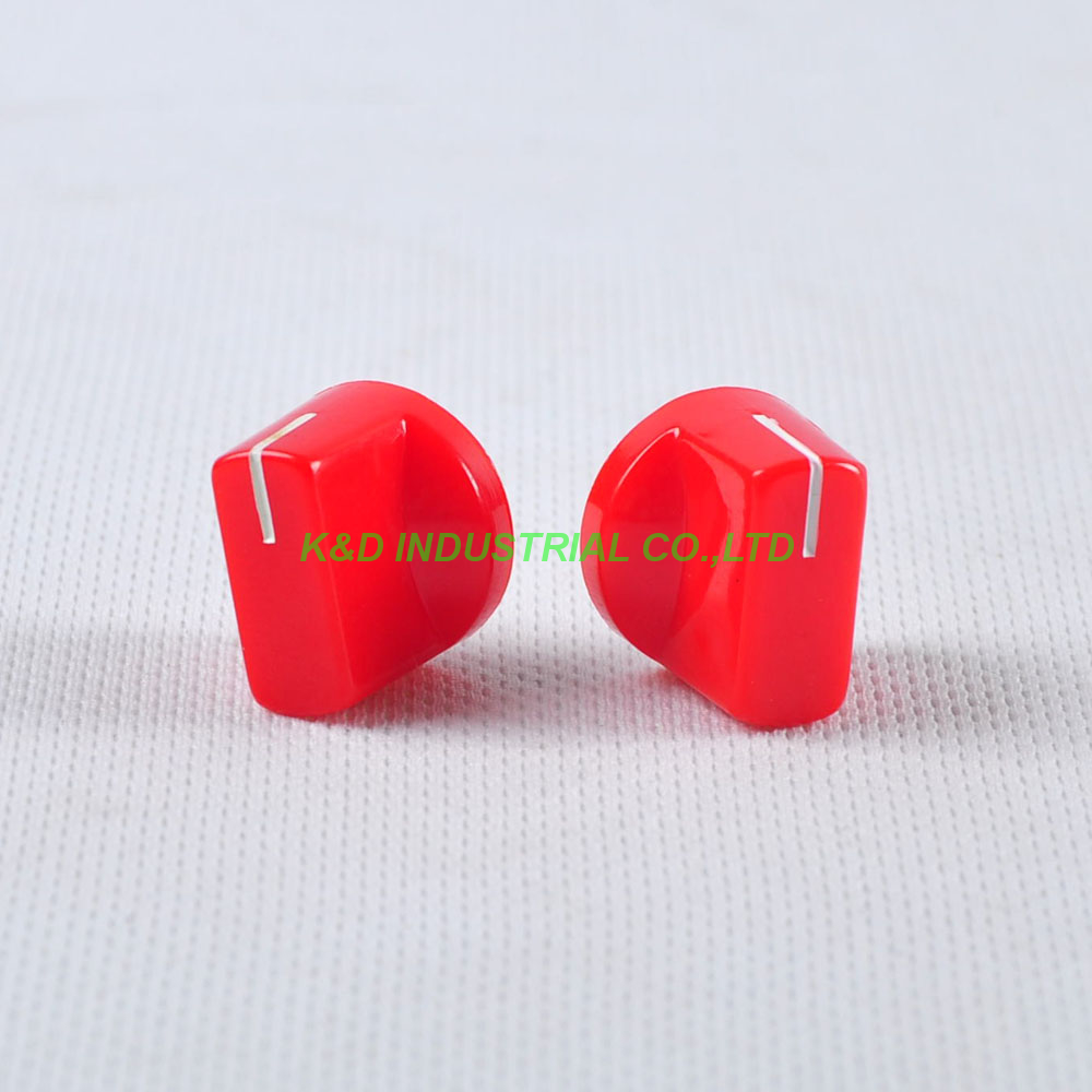 10pcs Colorful Red Rotary Volume Control Plastic Potentiometer Knob Knurled Shaft Hole in Electrical Plug from Consumer Electronics